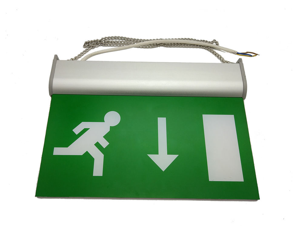الصين 3 Hours Rechargeable Battery Operated Double Sided Emergency Exit Sign مصنع